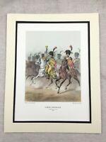 Vintage Militare Stampa Grande French Cavalry Ufficiale Imperial Guard Regiment