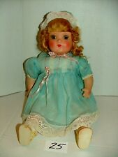 """#1930s Horsman Composition 20"""" Blonde Gold Medal Doll w Cloth Body Lot#25"""
