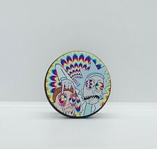 55mm 4-piece (3 chamber) Rick and Morty Tobacco Herb Grinder- FAST SHIPPING