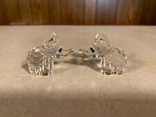 Swarovski Crystal Figurine (2) Small Elephants