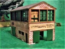 Vintage N Scale Railroad Lucky Dannys Building Supplies  assembled  mytr0282