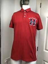 TOMMY HILFIGER MENS RED POLO SHIRT SIZE XL
