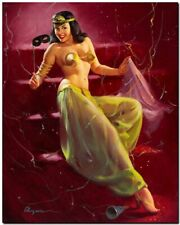 "Vintage GIL ELVGREN Pinup Girl CANVAS PRINT Cleopatra costume 8X10"""