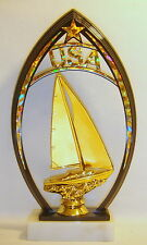 SAILBOAT TROPHY, SAILING AWARD, BOAT TROPHY @@