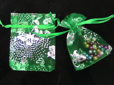 50 x Green Organza Gift Favour Bags 10cm x 6.5cm Craft Jewellery SB96