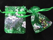 50 x Green Organza Gift Favour Bags 10cm x 6.5cm Craft Jewellery SB96