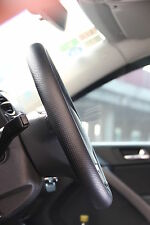 Black PVC Leather Steering Wheel Stitch Wrap Cover w/ Needle Thread DIY Fiat Ram