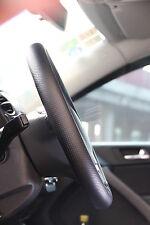 Black PVC Leather Steering Wheel Stitch Wrap Cover w/ Needle Thread DIY Fiat Ram