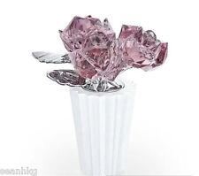 Swarovski Rose Bouquet Flower, Antique Pink Crystal Figurine Authentic - 5045565