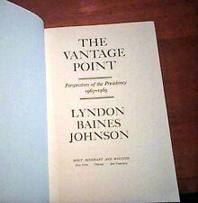 THE VANTAGE POINT Lyndon Johnson 1971 FIRST ED HC PICS & MAPS LBJ  Memoir VGC