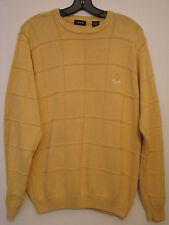 Izod Mens L/S Yellow Cotton Crewneck Sweater Nwot - Size Medium