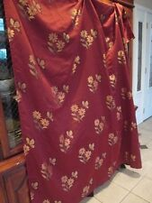 Vighano ~ Shower Curtain ~ Rich Red Floral &Butterfly Print ~
