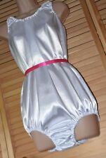SSX 6 K 160  Super pure white silky satin teddy/all-in-one, BN, XL