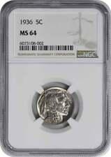 New Listing1936 Buffalo Nickel Ms64 Ngc