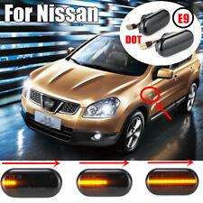 2x Car Dynamic Smoke LED Side Marker Light FOR Nissan Qashqai Navara (D40) 350Z