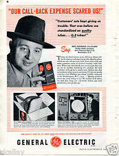 1951 Print Ad of General Electric GE Tubes Phillips Radio Co TV