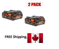 Two Ridgid 1.5AH 18V Battery Lithium Model R840085 18 VOLT X4