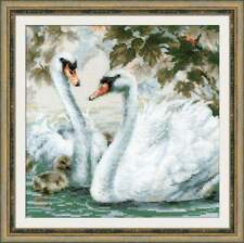 "COUNTED cross  stitch kit RIOLIS. ""White swans"" 1726"