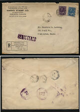 Canada  Marks stamp co registered cover to US  1924    MS1024