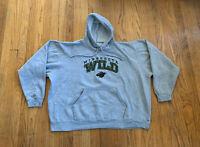 Minnesota Wild Vintage 90's USA Sport Club Embroidered Hoodie Mens XXL Rare NHL