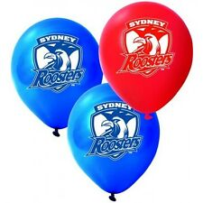 Official NRL Sydney Roosters Birthday Party Latex Helium Balloons (10 Pack)