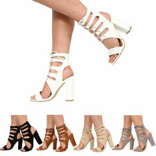 Peep Toes No Pattern Special Occasion Block Heels for Women