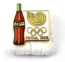 COCA-COLA COKE EE.UU. Solapa Pin PIN BADGE Broche - Botella SEOUL 1988