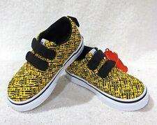Vans Toddler Boy's Doheny V OTW Logo Black/Yellow Skate Shoes - Size 7 NWB