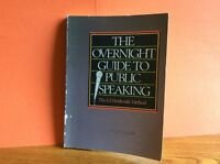 Vtg Inspiration HighSchool AP Overnight Guide Public Speaking Book Ed Wohlmuth