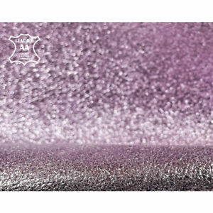 Purple with Pink Hue Metallic Leather Hides // Real Animal Leather With Sparkles