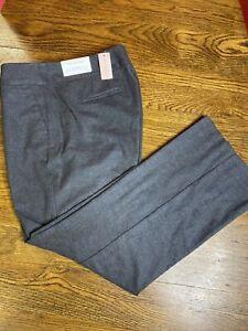Ann Taylor 14 Petite Curvy Trousers Dark Grey Soft