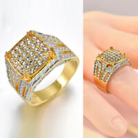 Fashion Rings Jewelry Plated Gold Simulation Full Diamond Rings WEDDING Decor