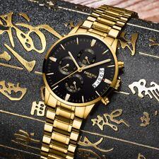 NIBOSI Wasserdichte Casual Uhr Männer Luxusmarke Quarz Herren Armbanduhren Gold