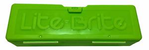Hasbro Lite-Brite Green Snap Lid Storage Case (Case Only) 2014
