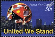 UNITED WE STAND New York City/Brooklyn Bridge/Flag/WTC Memorial Stamp (2003 PNG)
