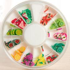 Designed for Nails Art Tips/DIY Slime Supply-1 Pack Art Foam Slime Fruit Slices