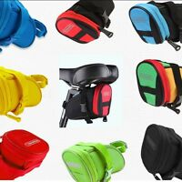 Waterproof Bike Cycling Saddle Bag Bicycle Seat Storage Pouch Rear Tail Case