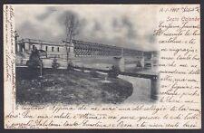 VARESE SESTO CALENDE 29 PONTE FERROVIA Fiume TICINO Cartolina viaggiata 1900