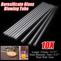 10Pcs 350mm OD 7mm 2mm Thick Wall Borosilicate Glass Blowing Tube O