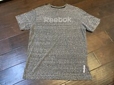 Reebok Heather Gray Crossfit Athletic Workout Running Shirt - Size Medium