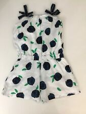 Catamini Girls Jumpsuit Playsuit White And Green Age 4 Immaculate