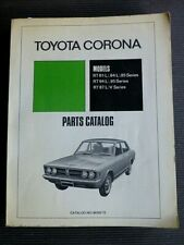 "Toyota CORONA "" RT81, 84, 85, 94, 95, 87 V "" 1972  Genuine PARTS CATALOG"