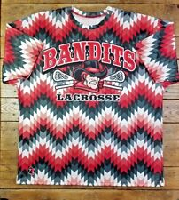Rare Bandits Lacrosse Salesman's Sample Shirt Sublimated Red Black White Large