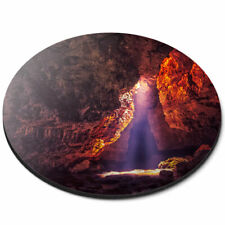 Round Mouse Mat - Meghalaya Cave India Travel Office Gift #2727