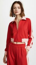 Alice + olivia AIR Jackson Cropped Track Jacket Red Pink Size S NWT
