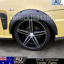 4x Universal Fender Flares Black Durable Flexible Polyurethane Car Body Kit