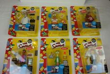 The Simpsons action figure complete set series 6 MIB Playmates BRIGHT & Clean
