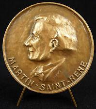 Médaille au poète Martin-Saint-René traducteur de La Divine comédie Dante medal