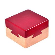 Secret Wood Treasure Box Wooden Puzzle Hidden Diamond Jewelry Cash Magic Gift