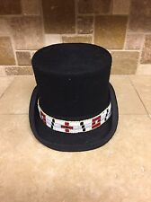 Wampum band RED and BLACK Native American rendezvous Cherokee native steampunk